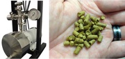 ShockWave Power™ Reactor in ApoWave System and typical brewing hop pellets